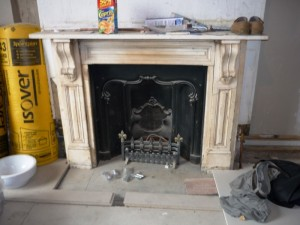Existing fireplace before maida vale fireplace installation