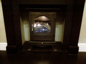 Chesney's Belgravia gas stove - testing the flame
